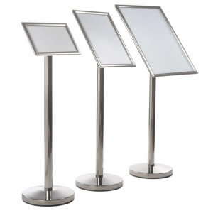 Angled Sign Stand Presenters