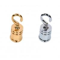 24mm Chrome Brass & Black Hooks
