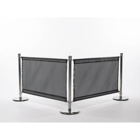 Plain Black PVC Mesh Banner
