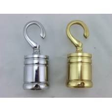 24mm Chrome & Brass Hooks