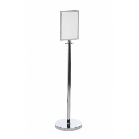 Prestige Decorative Sign Stand Chrome or Brass