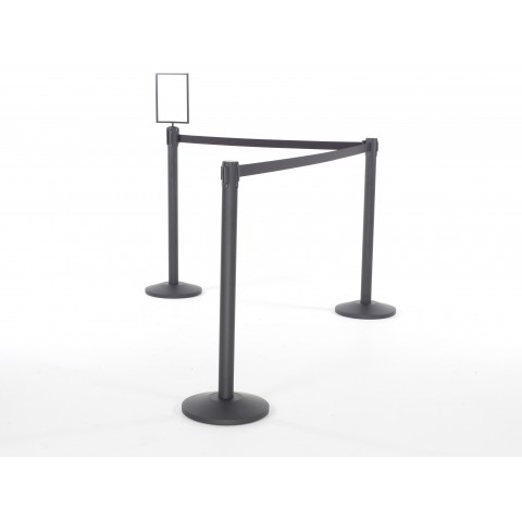 Hire Black Retractable Barriers
