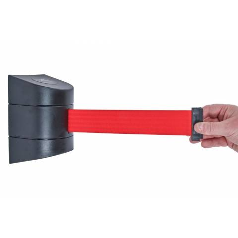 Tensabarrier 4.6m Wall Mounted Unit Red Webbing