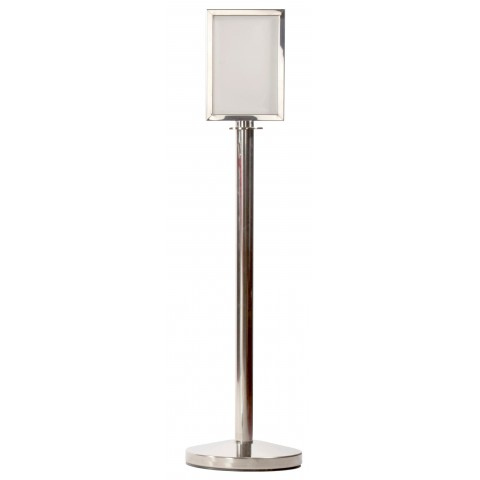 Nuvo Polished Silver A4 Sign Post
